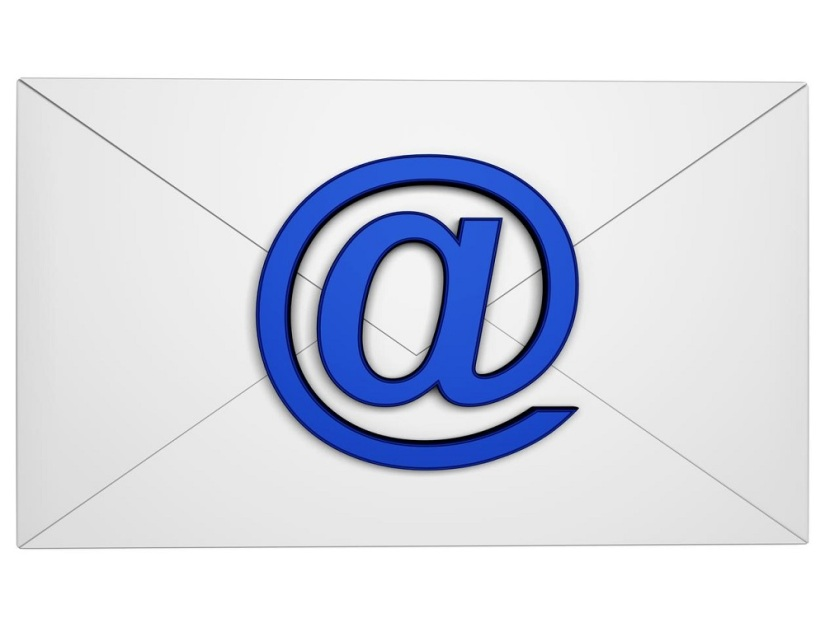 envelope with email symbol isolated on white